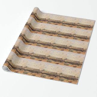 Papier Cadeau Dieppe, bassin de Dunquesne, marée basse, Sun,