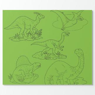 Papier Cadeau dinosaures