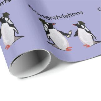 Papier Cadeau Diplômés de pingouin