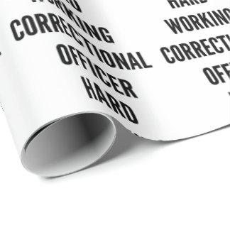 Papier Cadeau Dirigeant correctionnel travaillant dur
