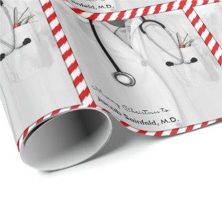 Papier Cadeau Docteur Christmas