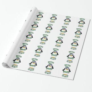 Papier Cadeau Docteur pingouin en service (femelle)