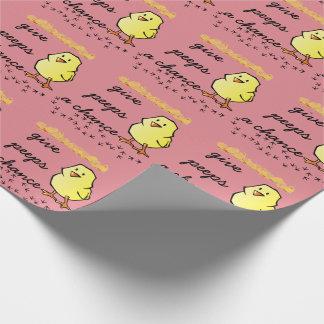 Papier Cadeau Donnez à des piaulements un papier d'emballage