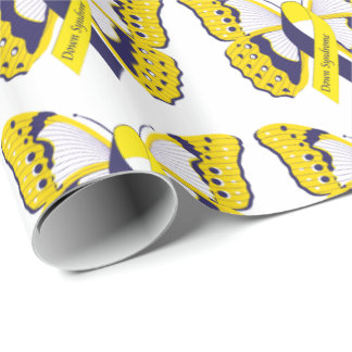Papier Cadeau Down Syndrome Butterfly