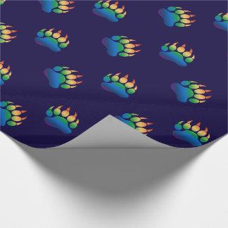 Papier Cadeau Drapeau d'arc-en-ciel de patte d'ours de gradient