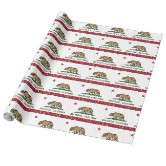 Papier Cadeau Drapeau San Mateo d'état de la Californie