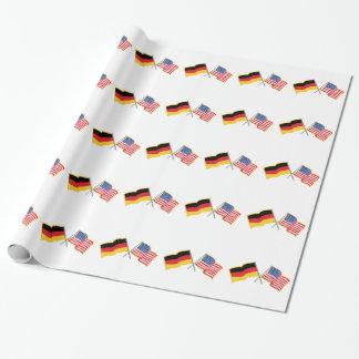 Papier Cadeau Drapeaux américains allemands