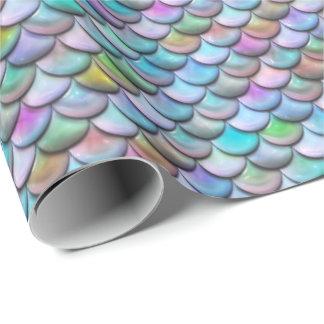 Papier Cadeau Échelles colorées perlées brillantes brillantes de
