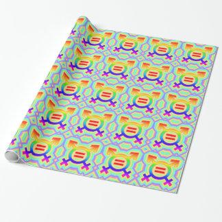 Papier Cadeau égalité de mariage du mariage homosexuel 2become1