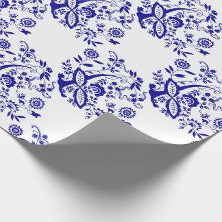 Papier Cadeau Élément bleu de style d'oignon