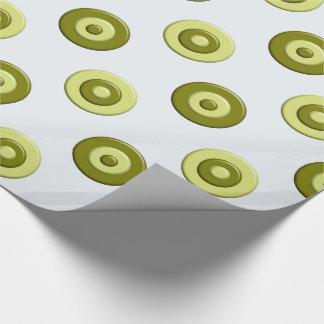 Papier Cadeau Élément vert de pois