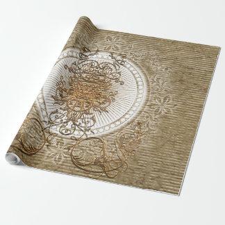 Papier Cadeau Éléments floraux décoratifs impressionnants