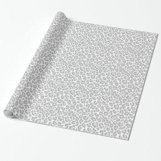 Papier Cadeau Empreinte de léopard gris