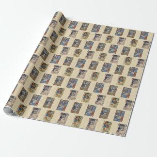 Papier Cadeau Enveloppe brillante de manuscrit lumineux de