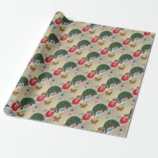 Papier Cadeau Enveloppe chic minable de tortue et de cadeau