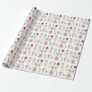 Papier Cadeau Enveloppe complètement colorée médicale de