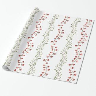 Papier Cadeau Enveloppe de baie de Noël et de cadeau des vignes