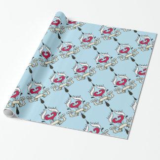 Papier Cadeau Enveloppe de cadeau à ailes de papier d'emballage
