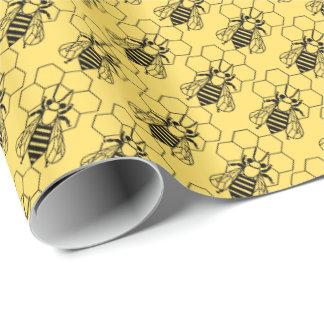 Papier Cadeau Enveloppe de cadeau - abeille sur le nid