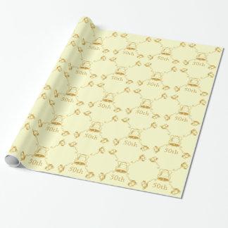 Papier Cadeau Enveloppe de cadeau - anniversaire d'or Bells