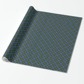 Papier Cadeau Enveloppe de cadeau bleue et verte de tartan/plaid