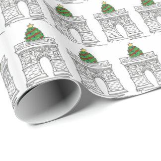 Papier Cadeau Enveloppe de cadeau carrée de Noël de voûte de NYC
