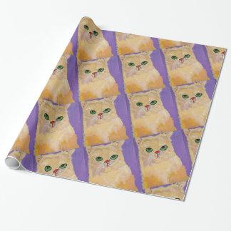 Papier Cadeau Enveloppe de cadeau de chat de gingembre (petit