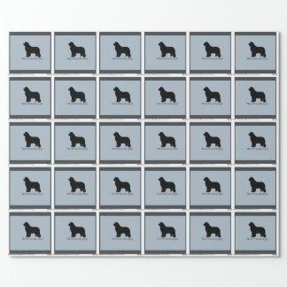 Papier Cadeau enveloppe de cadeau de chien de Terre-Neuve