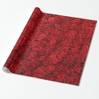 Papier Cadeau Enveloppe de cadeau florale vintage de rose rouge