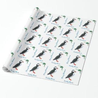 Papier Cadeau Enveloppe de cadeau pelucheuse de Noël de macareux
