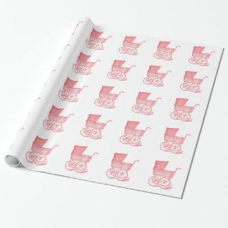 Papier Cadeau Enveloppe de cadeau vintage de douche de bébé de