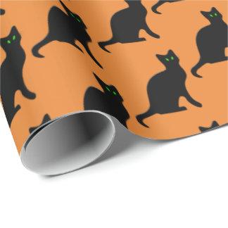 Papier Cadeau Enveloppe de partie carrelée par vacances de chat