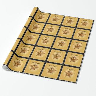 Papier Cadeau Enveloppe de récompense de docteur Gold Star Best