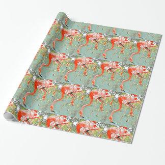 Papier Cadeau Enveloppe potable de flamant