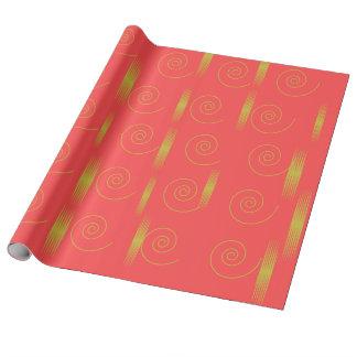 Papier Cadeau enveloppe rose d'or