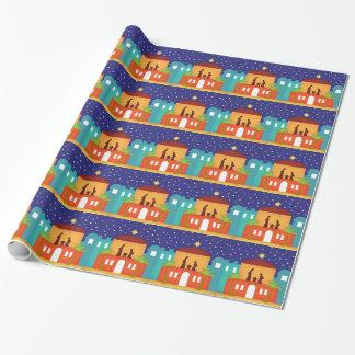Papier Cadeau Étoile au-dessus de nativité de Noël de Bethlehem