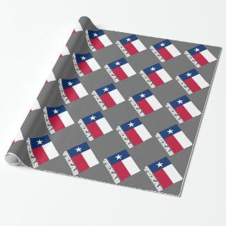 Papier Cadeau Étoile solitaire du papier d'emballage | le Texas