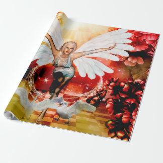 Papier Cadeau Fée merveilleuse avec le cygne
