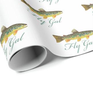 Papier Cadeau Femmes de pêche de mouche