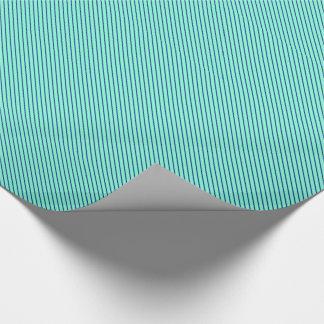 Papier Cadeau Filets diagonaux - aqua et marine