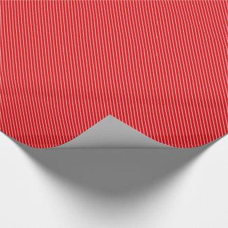 Papier Cadeau Filets diagonaux - rouge-foncé et blancs