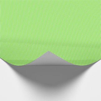 Papier Cadeau Filets diagonaux - vert et blanc de chaux