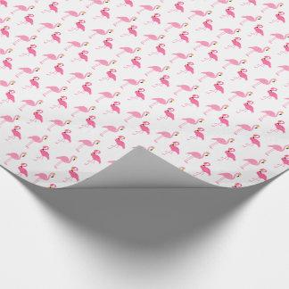 Papier Cadeau Flamants roses mignons