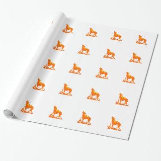 Papier Cadeau Flammes de loup