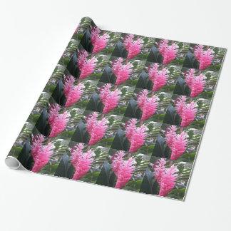 Papier Cadeau Fleur de gingembre rouge d'Hawaï