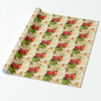Papier Cadeau Fleur de sureau et fraise