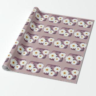 Papier Cadeau Fleurs de Gerbera