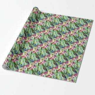 Papier Cadeau Fleurs du muguet cachées dans le feuille