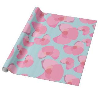 Papier Cadeau Fleurs roses