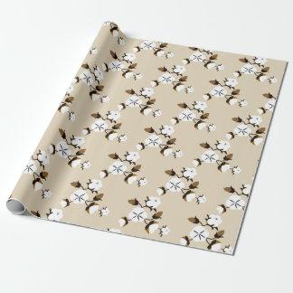 Papier Cadeau Fleurs rustiques de coton de ferme